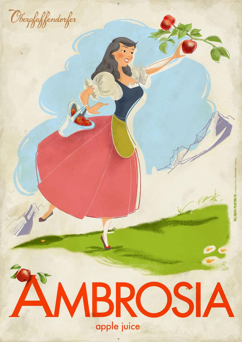 Curio and Co. Curio & Co. www.curioanco.com  - Oberpfaffendorfer poster series - Cesare Asaro - Amborsia -  Apple Juice