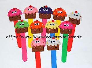 marcapaginas cupcakes