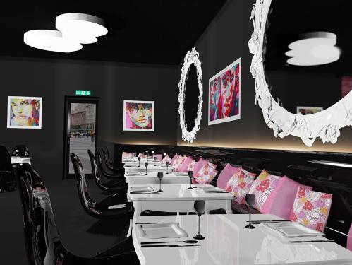 cafe designs interior purple cafe interior designs ideas home design - Purple Cafe Ideas