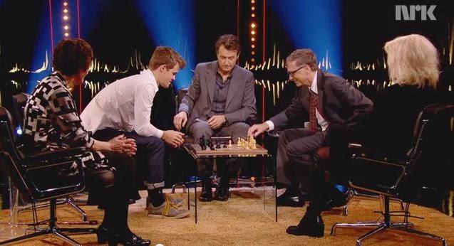 Echecs : Bill Gates torché par Carlsen © NRK