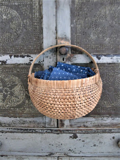 antique half basket for hanging