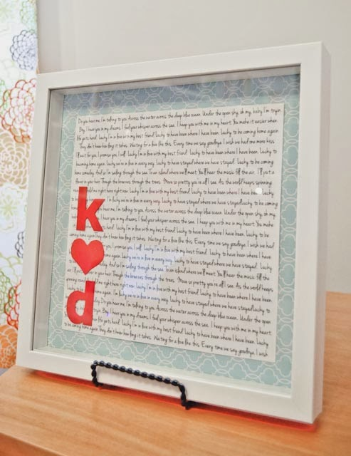 Creatively Lu: Thrifty Thursdays:Kristin\'s DIY Framed Song Lyric Art