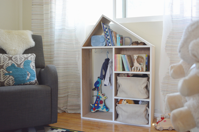 Ford's Baby Boy Nursery Bookshelf - Interior Design by Lesley Myrick, Pasadena Interior Designer