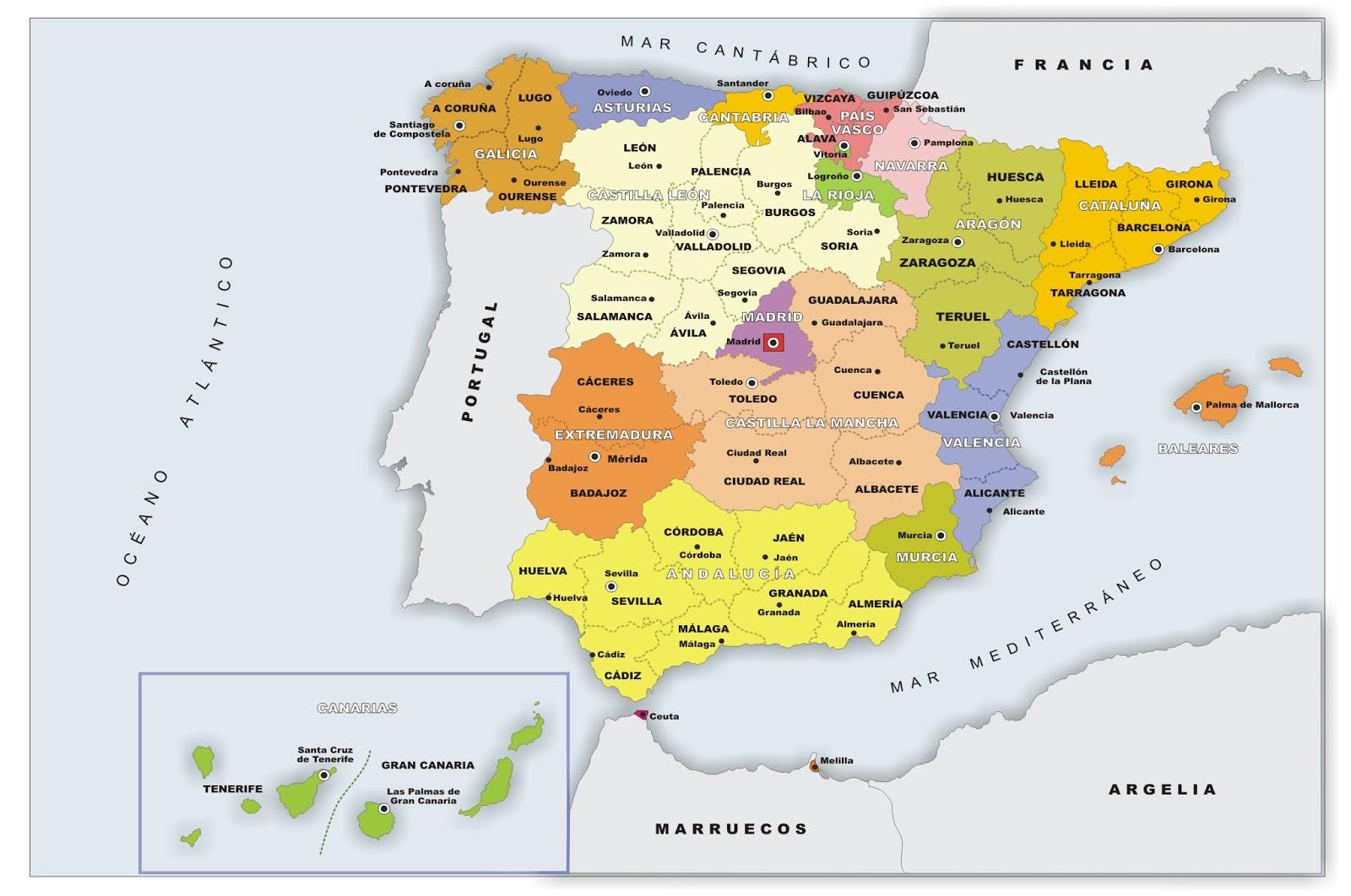 La alacena de las Ciencias Sociales Mapa poltico de Espaa
