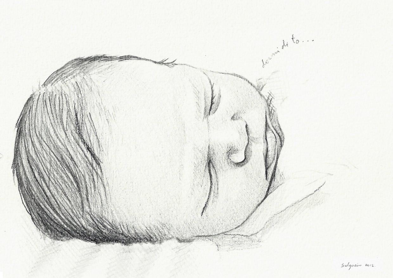 Ilustracin y Pintura Mara Jos Salgueiro 38 Retrato de beb a