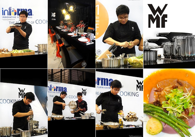 aksi chef John Sawarto di acara the real art of cooking persembahan informa dan WMF