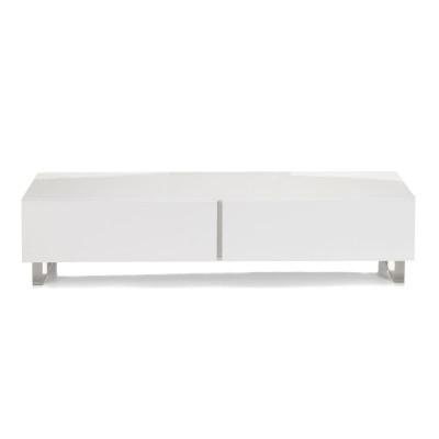 meuble tv alinea blanc   meuble tv