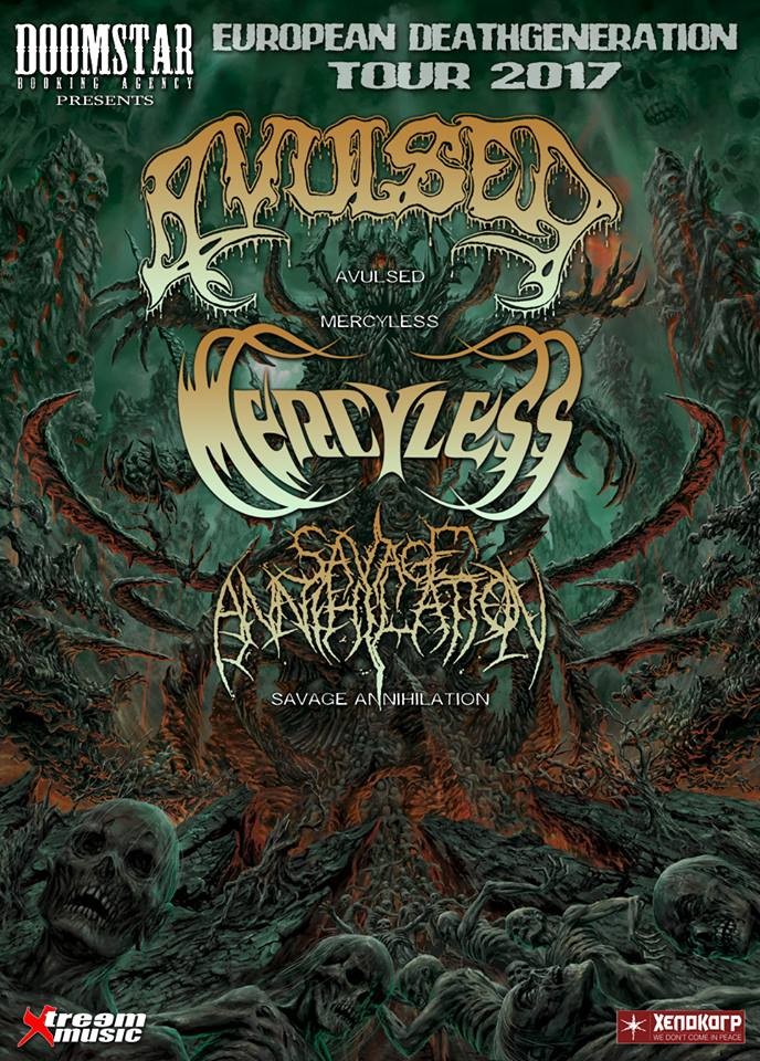12. 4. 2017 - AVULSED / MERCYLESS / SAVAGE ANNIHILATION