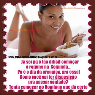 Recadinho Dieta para Facebook