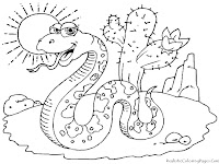 Desert Snake Pictures To Coloured For Kids
