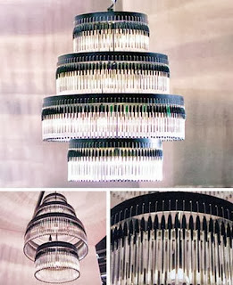 Lamp with Bic pens