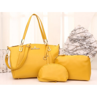 JESSICA MINKOFF BAG ( 3 IN 1 SET ) - MUSTARD