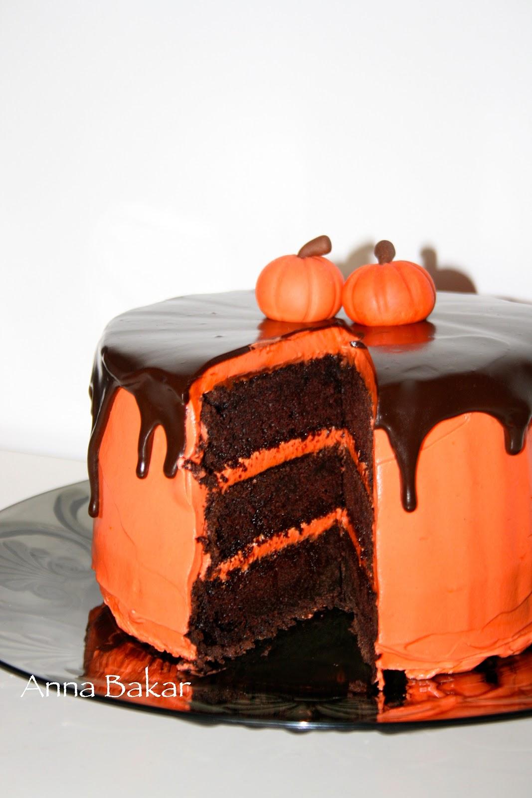 halloween tårta choklad