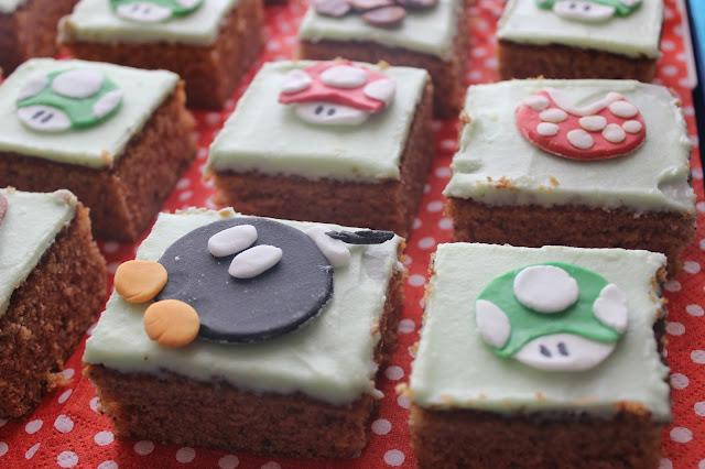 Baked Super Mario carrotcake