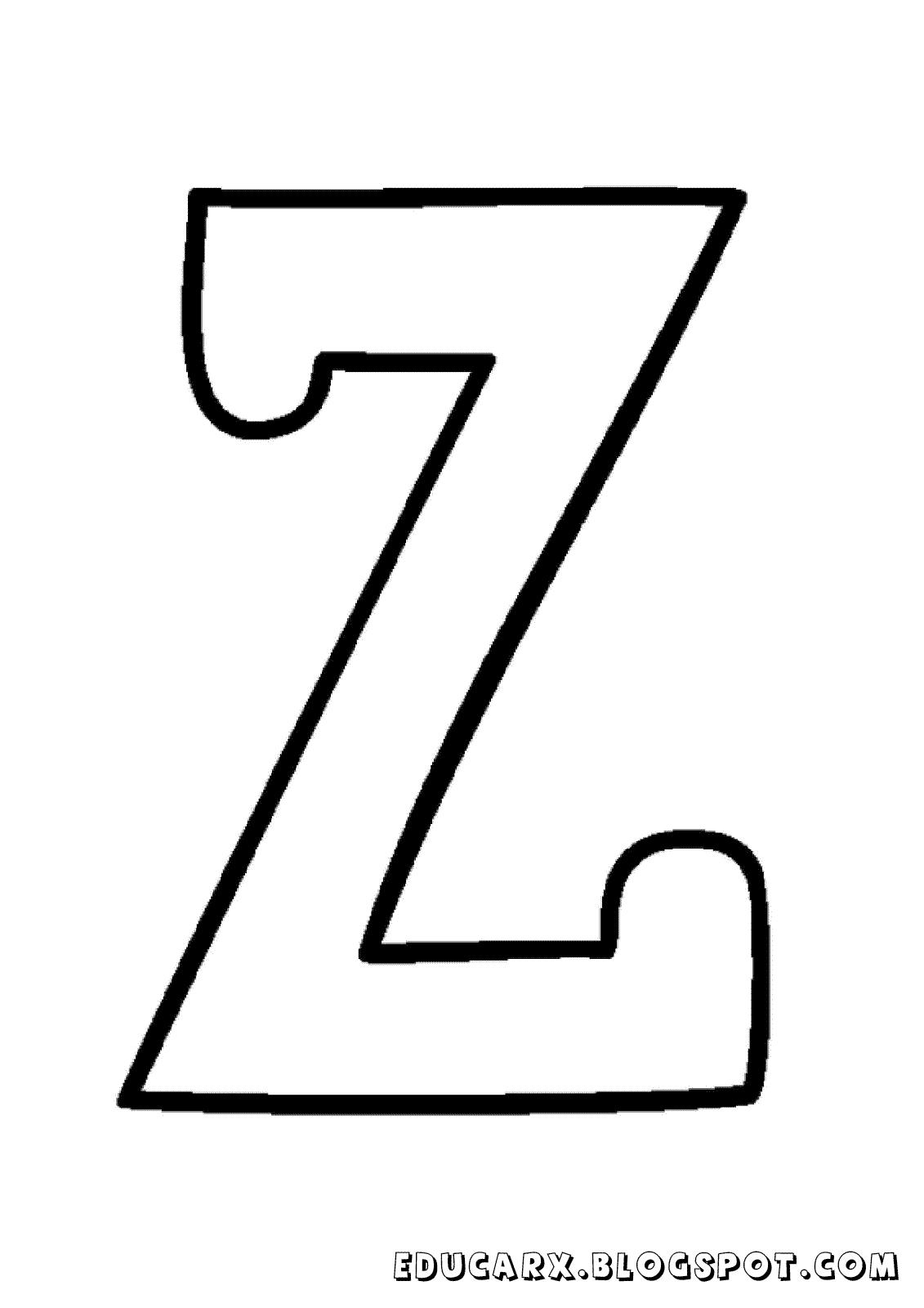 Molde da letra maiúscula Z