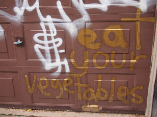 health, conscious, graffiti, eat, your, vegetables