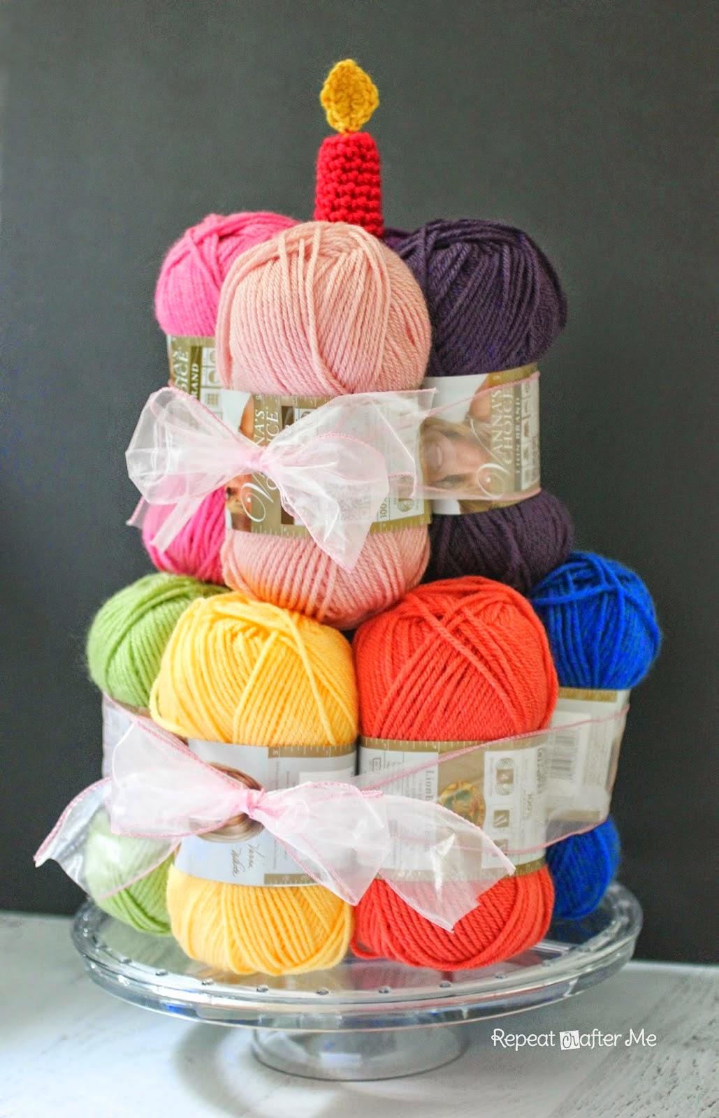 tarta de madejas de lana
