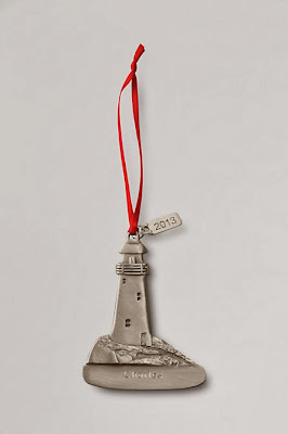 Lands' End personalized lighthouse ornament
