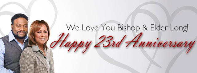 Bishop long and wife celebrate 23 years in marriage