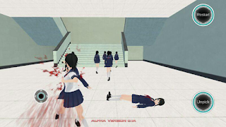 Screenshots of the Yandere Simulator for Android tablet, phone.