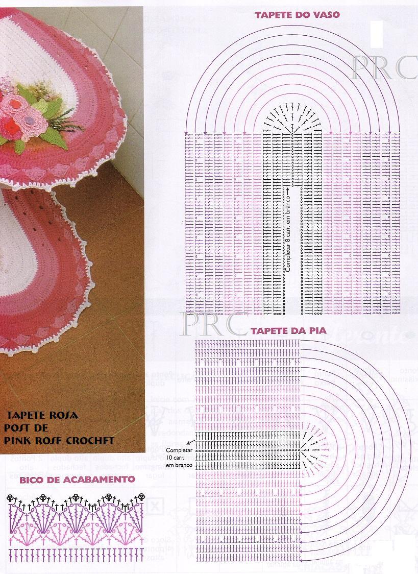 Вязать крючком коврик для ванной комнаты схема и описание