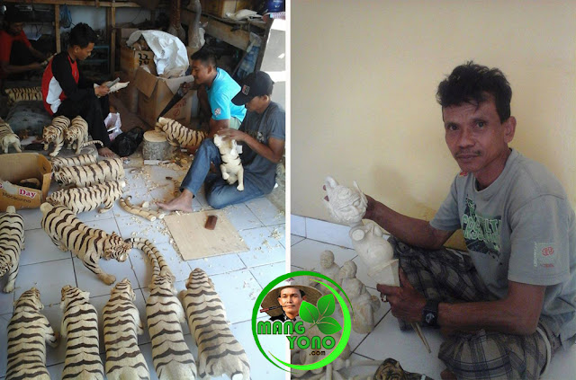 Proses pembuatan kerajinan kayu Khas Subang