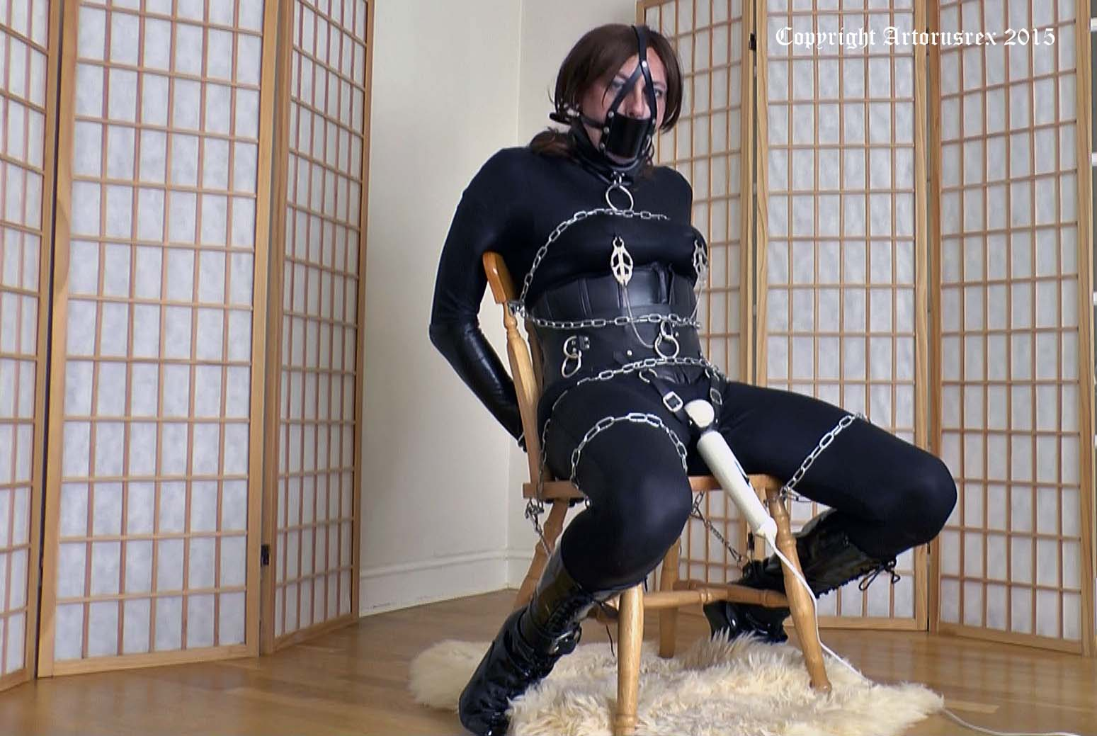 EMMA BOUND: Charlotte Handcuffed And Chained To A Chair