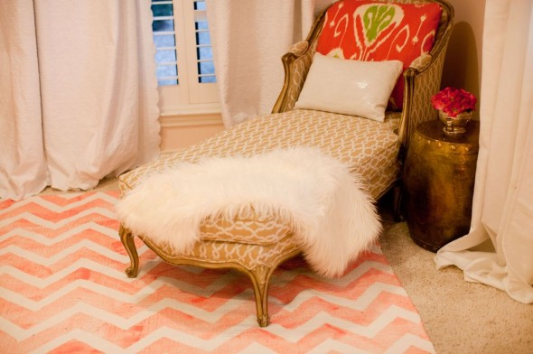 In other news, you can paint a DIY chevron rug (not exciting) without a lot ...