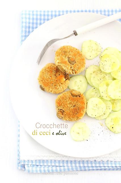 crocchette di ceci, olive e quartirolo