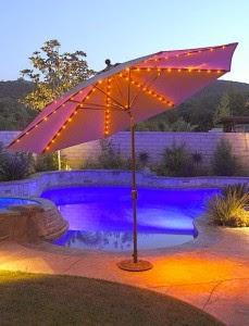 Patio Umbrella Lights Grass 229x300
