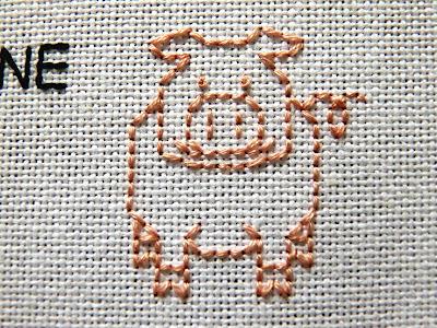 Pink pig (Landrace, maybe?)