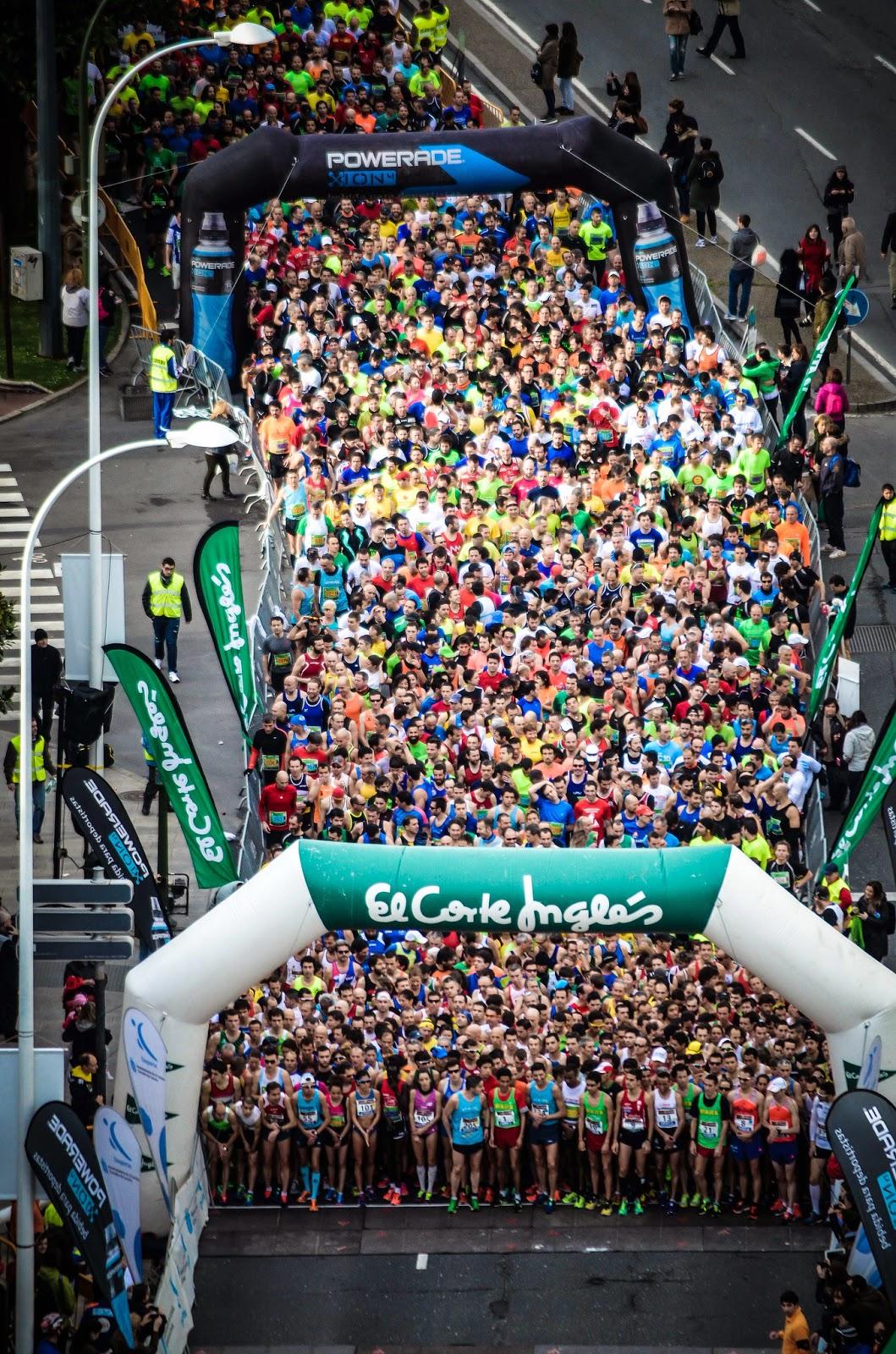 Salida medio maratón Coruña 2014