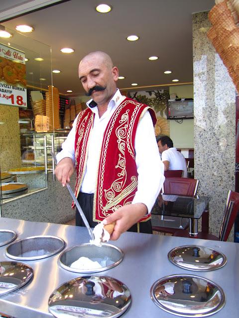 Dondurma in Istanbul, Turkey.