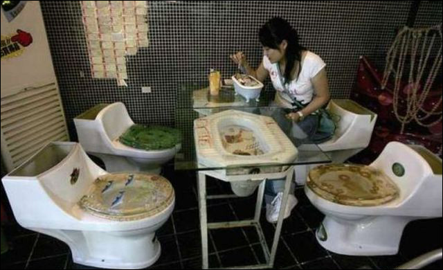 funny images - taiwan toilet restaurant