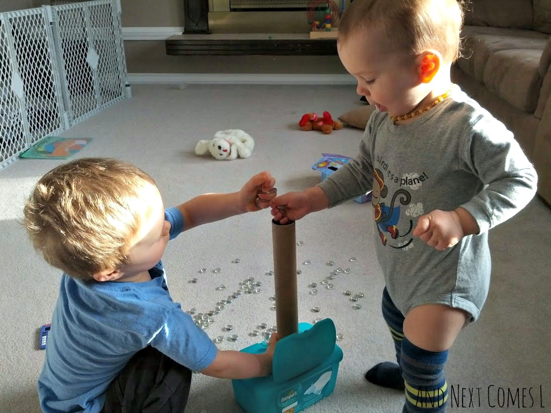 Simple sibling play idea from And Next Comes L