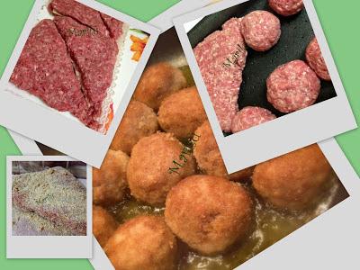 tramezzini e polpette di carne secondo di carne