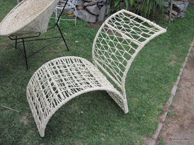 Silla con tejido de palma
