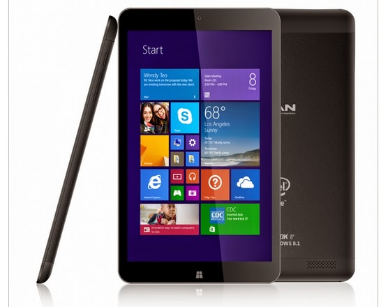Advan Vanbook W80 dan Advan Vanbook W100, Tablet Prosesor Intel Berbasis Windows 8.1