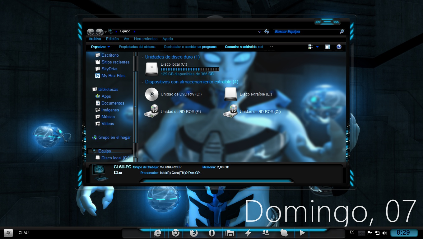 descargar temas de alienware para windows 7