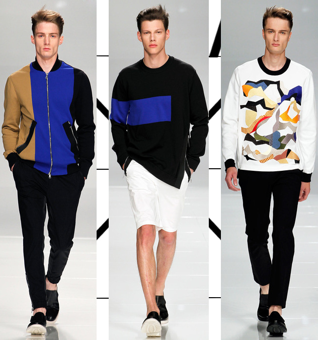 iceberg mens spring 2014 color-block shirts