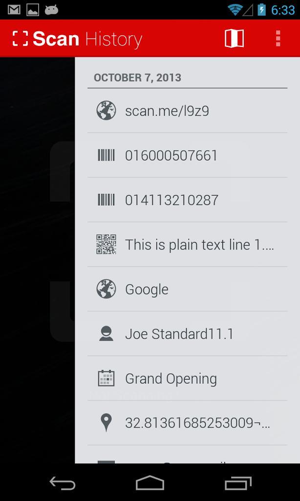 تطبيق مجاني للأندرويد لقراءة ومسح رموز الأستجابة السريعة الباركود QR Code Reader APK 2.0.5