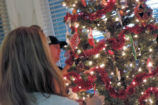Auntie Sitara And Uncle Moses Check Out The Christmas Tree