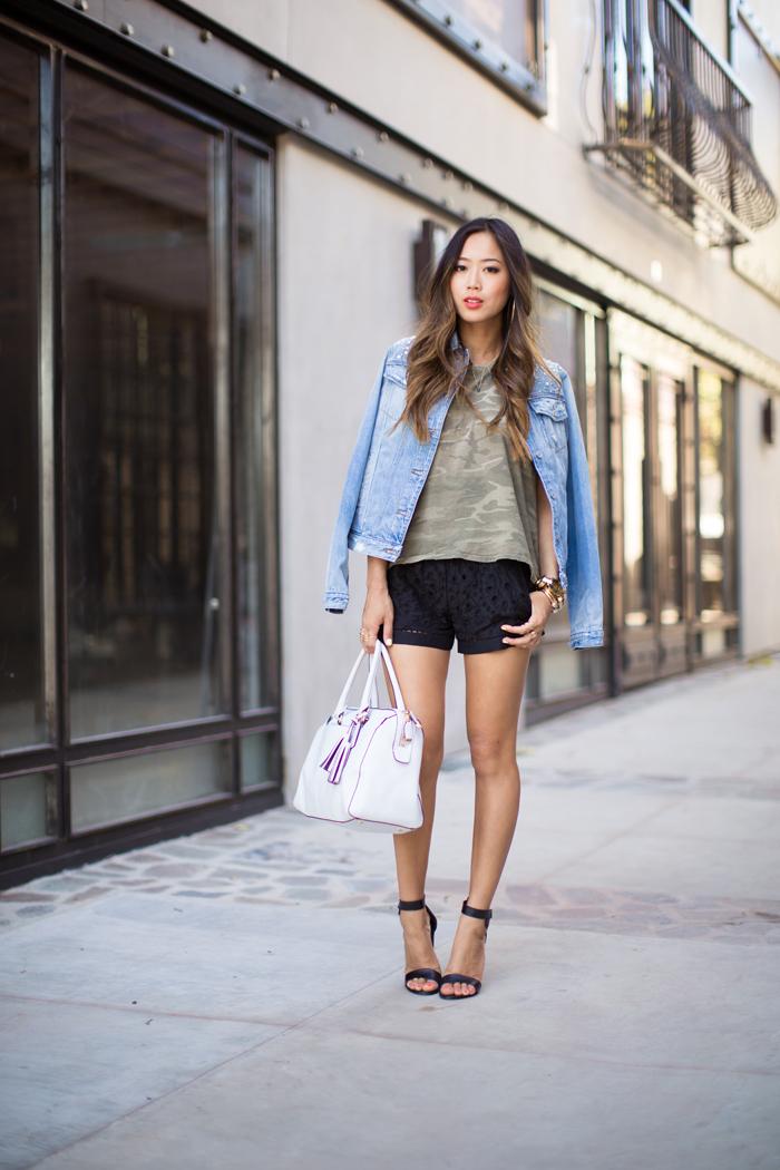 Chica alta en shorts negros tall girl black shorts - 4 2
