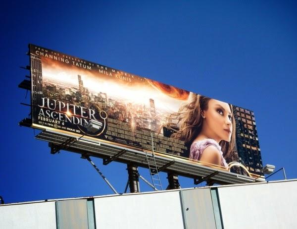 Jupiter Ascending Mila Kunis billboard