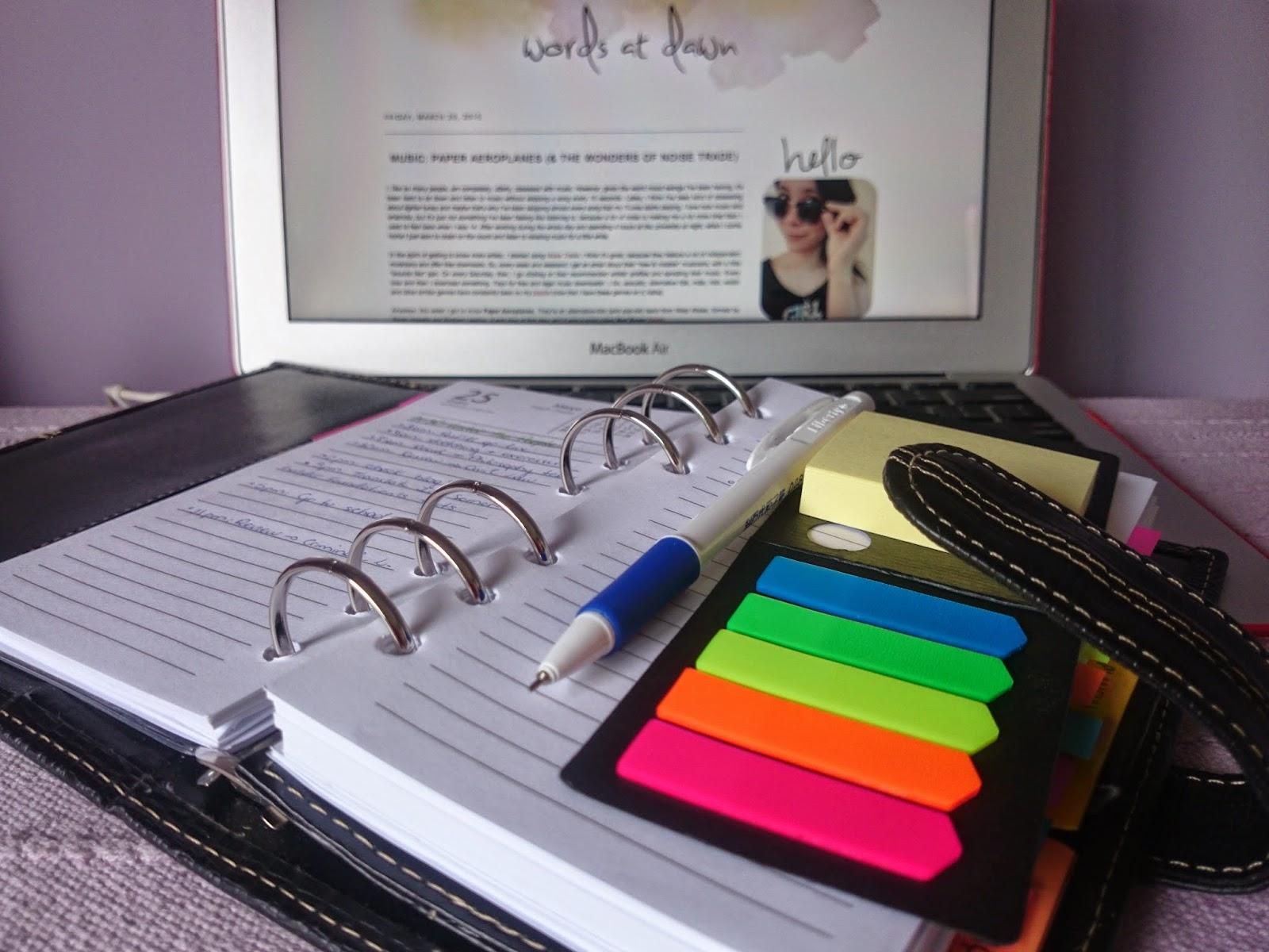 planner organising