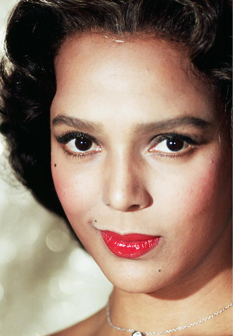 Dorothy Dandridge Angel Face Publicity Photographs In Color