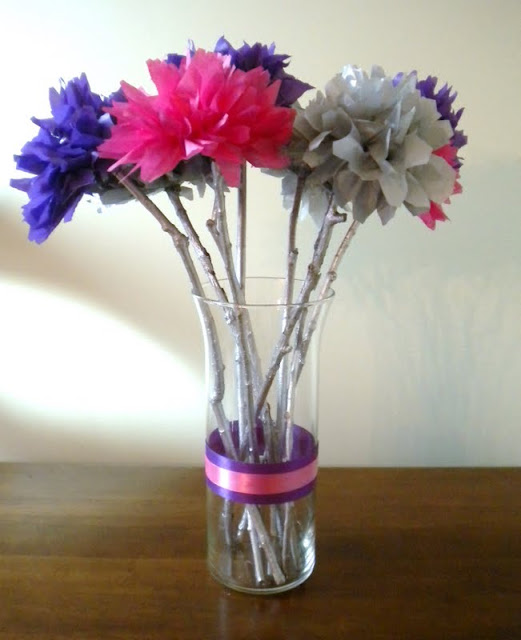 Eco gifts Tissue Paper Flower Wedding Centerpieces