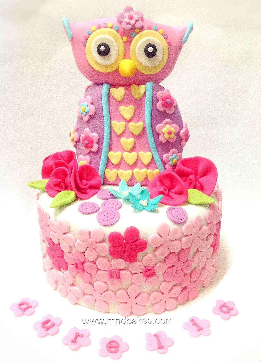Mom And Daughter Cakes Owl Cake For 1st Birthday