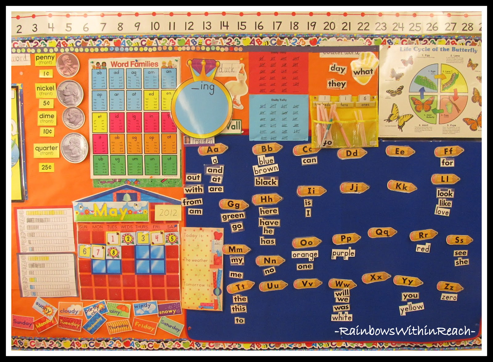 Kindergarten Calendar Wall : Rainbowswithinreach spot