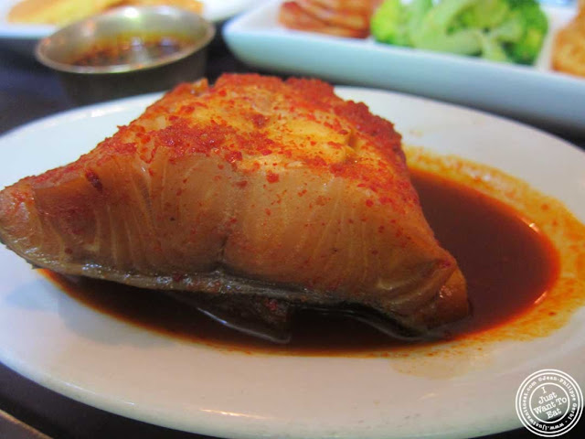 image of black cod at Bann Korean restaurant in NYC, New York